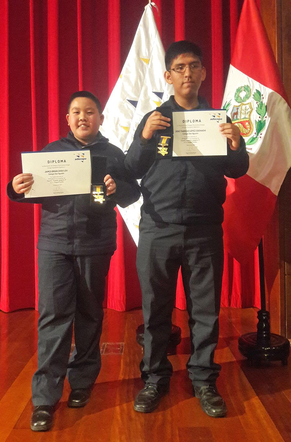 Ganadores agustinos de Juegos Florales Adecopa